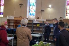 4 mai 2021 - Mgr Olivier de Germay à l'épicerie solidaire