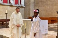 14 juin 2020 - Baptême et première communion de jeunes de l'aumônerie