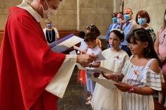 28 juin 2020  - Premières communions d'enfants à l'Annonciation